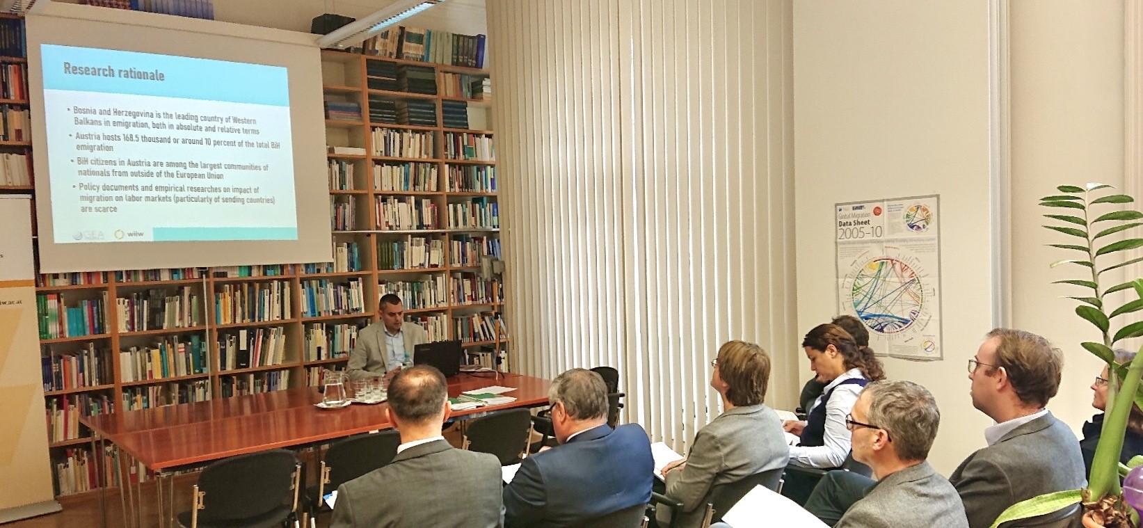 Prezentacija istraživanja o radnim migracijama u Beču